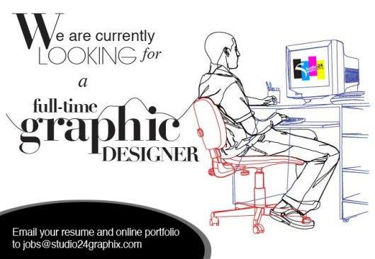Looking to hire a full-time graphic designer