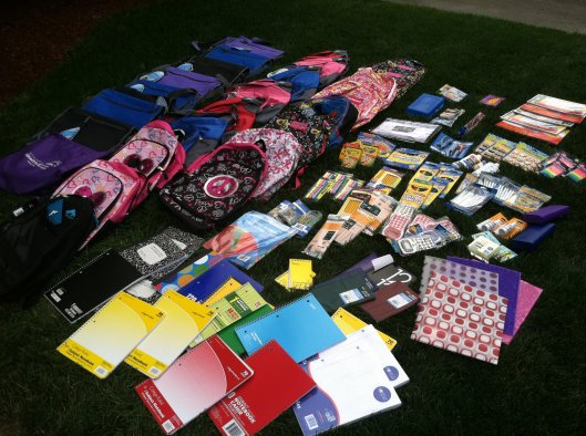 Our donated supplies