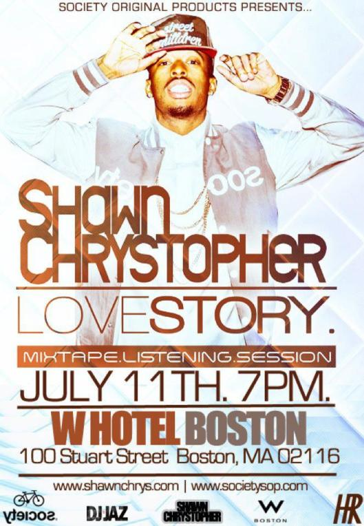 Societysop.com & Shawn Chrystopher Listening Party 7/11 W Boston