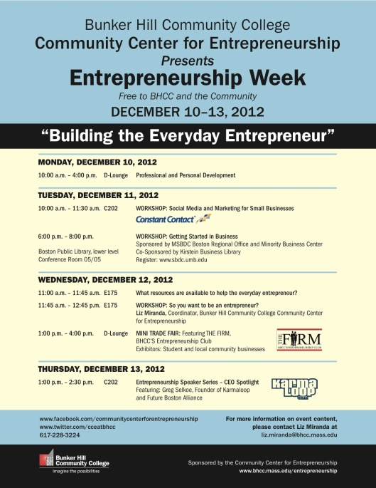 Entrep Week Flyer
