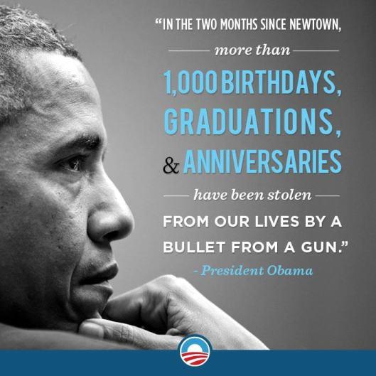 My president on fun violence