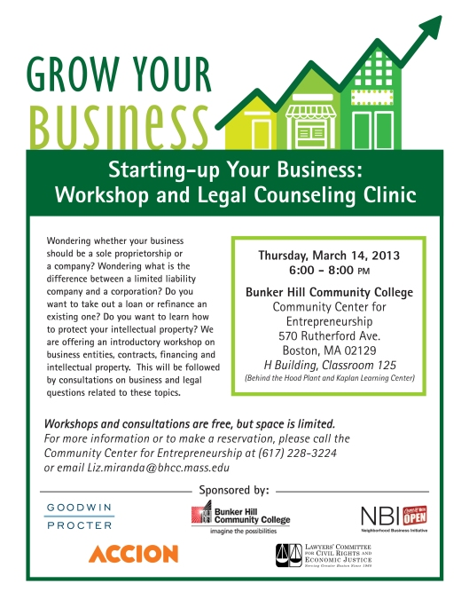 Grow Your Business: FREE Workshop & Legal Clinic