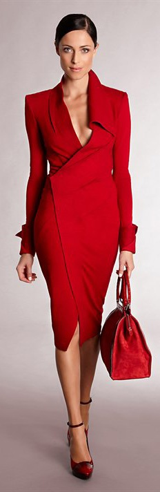 Red Donna Karan Dress